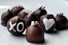 Homemade truffles. I love the tips she gives for these. Gotta try them.