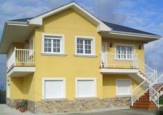 Tonos de Amarillo Fachadas de casas modernas Fachada de casa Casas