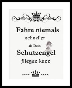"""Kunstdruck Bild Spruch """"Schutzengel""""  von MilaLu auf DaWanda.com"""