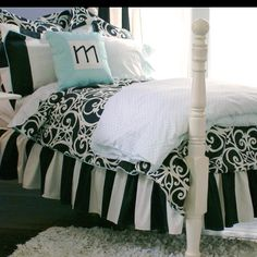 Black and white bed spreads for my room??! :) most possible choice.