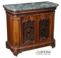 Rosewood Roccoco Revival Commode, J. & J.W. Meeks, New York, c.1845 ...