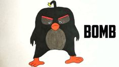 How to draw and color Bomb from Angry Birds Movie | YaazhiniFineArt Angry Birds Movie Characters, Fictional Characters, Darth Vader, Drawings, Movies, Color, Sketches, Films, Colour