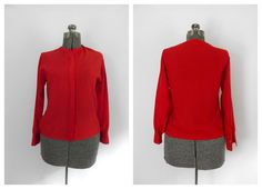 Red Sheer Blouse Vintage 1970s 1980s Holiday Wear by rileybella123, $19.00