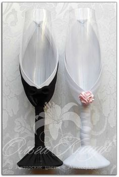 Wedding glasses Swarovski Crystal champagne flutes LACE