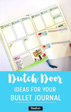 The 'Dutch door' system is a way of creating a weekly spread in your bullet journal, where part of the page remains stationary and the other part is normal and you can turn the pages as usual. In this post you'll find lots of ideas to get inspired - www.christina77star.co.uk