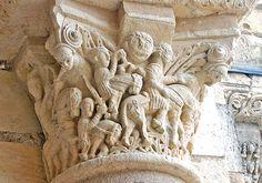Abbaye de Fleury, San Benoit sur Loire Column Capital, Fleury, Benoit, Romanesque, Loire, Columns, 2d, Gothic, Sculpture
