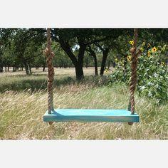Double-Rope Tree Swing In Blue.
