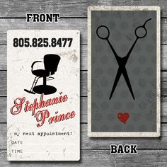 Hair Stylist / Barber Custom Business Cards by archangelgraphics, $12.00