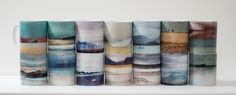 Cath Waters Scottish Landscape Mugs, Coasters and Placemats.   Ceramic gift boxes mugs and coasters.