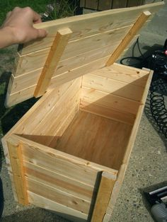 Make a tack trunk (use a real hinge and lock for top, and stronger handles. Add wheels. Stronger wood.