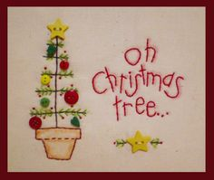 Christmas tree: embroidery and buttons