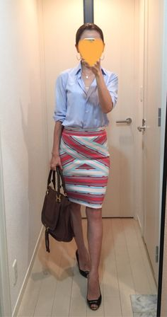 Her Style, Cool Style, Fashion Face, Womens Fashion, Tights Outfit, Office Looks, Office Ladies, Office Fashion, Skirt Outfits