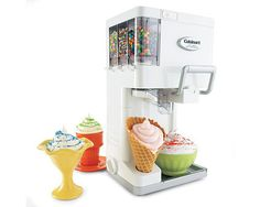 Cuisinart Ice Cream Maker Frozen Yogurt Sorbet Soft Serve Robot-like Freezer Soft Serve Machine, Sundae Party, Condiment Holder, Making Homemade Ice Cream, Mantecaditos, Ice Cream Maker, Living At Home, Cool Stuff, Gastronomia
