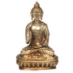 """Die Skulptur """"Sitting Buddha"""" ist ein exotisches Dekoobjekt für Ihren Wohnbereich. Bringen Sie das exotische Flair Asiens in Ihre vier Wände!"""