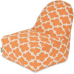 Dot & Bo Lattice Kick-It Chair ($105) ❤ liked on Polyvore featuring home, furniture, chairs, bean bag, colored bean bags, beanbag furniture, colored chairs and beanbag chair