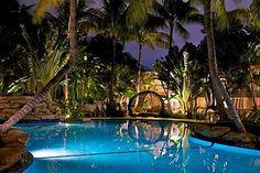 Our tropical paradise at night! www.theinnatkeywest.com