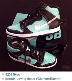 cheap for discount 0af17 bbcf2 Tiffany Blue Nike Dunks High 2013 Nike Store, Cheap Sneakers, Womens  Sneakers, Sneakers