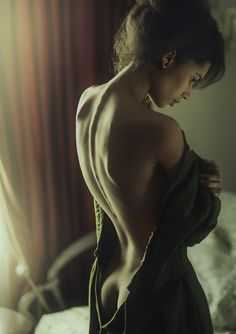 Okay I'm a man and this is my weakness a woman and the small of back