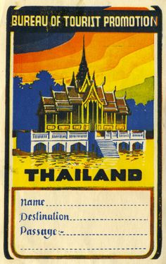 thailand tourist label tourism