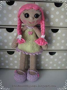 "Handmade by Ülkü: Amigurumi Puppe ""Damla"" / Doll / Bebek"