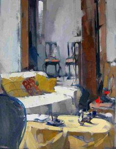 ◇ Artful Interiors ◇ paintings of beautiful rooms - Interior - Maggie Siner