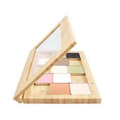 Bamboo Magnetic Makeup Palette Customized Eye Shadow Case DIY Cosmetic Bag Hot