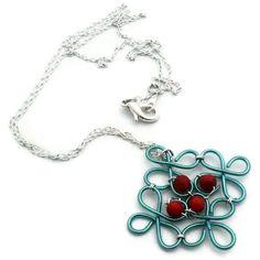 Lattice Pendant Necklace by UniQCreations on Etsy, $18.00