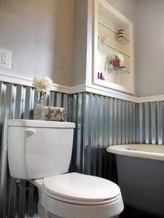 Corrugated Metal Bathroom Walls. From The Desk Of Kate Jones June 2015 Chipotle Bathroom Corrugated Sheet Metal