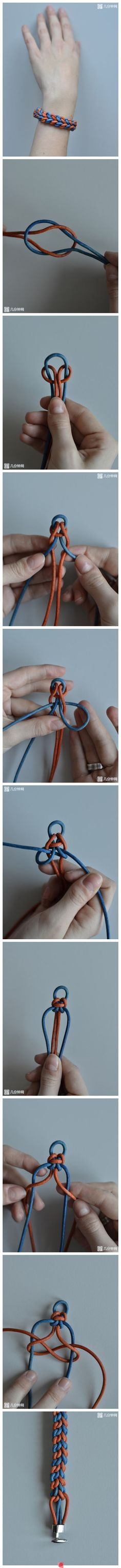 I need to try this  big time. I might try it with paracord.