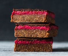 Quick and Easy Raspberry Slice. Simple, delicious and free from gluten, grains, dairy, egg and refined sugar. Enjoy.