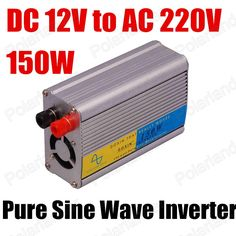 factory direct selling 12V turn 220V 150W pure sine wave inverter Smart Car Power Converter high quality