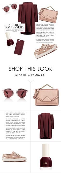"""""""Rosegold vibes"""" by javorkozima ❤ liked on Polyvore featuring Christian Dior, Karl Lagerfeld, Marni, W118 by Walter Baker, Superga and Dagmar"""