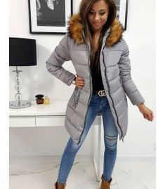 Dámska zimná bunda Carina prešívaná šedá Winter Jackets, Fashion, Silk, Winter Coats, Moda, Winter Vest Outfits, Fashion Styles, Fashion Illustrations
