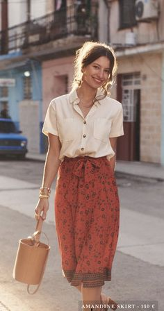 kleider rock - Sézane – Amandine Rock – Source by - Modest Outfits, Modest Fashion, Casual Outfits, Cute Outfits, Fashion Outfits, Womens Fashion, Skirt Fashion, Fashion Hacks, Fashion Fashion