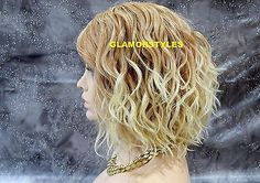 17-Wavy-Blonde-Mix-Hand-Tie-Full-Lace-Front-Wig-Heat-Ok-Natural-Hair-Part-NWT $47!!!!!!!!  9-16