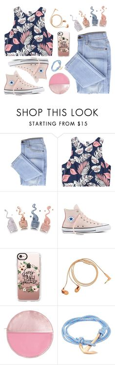 """""""I'm not into giving up"""" by susy-v ❤ liked on Polyvore featuring Converse, Casetify, Happy Plugs, Bando, MIANSAI and susyset"""