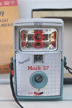 Vintage Imperial Mark 27 Camera Green with Red