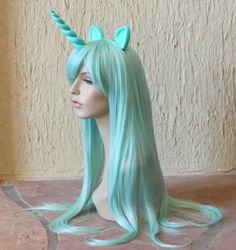 105 Lyra pony costume cosplay wig my little pony cosplay by GimmCat$115.00.
