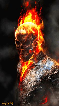 If you ask me, the Ghost rider movies deserve a remake. I love the Ghost Rider. One of my favorite Marvel Characters. Comic Book Characters, Marvel Characters, Comic Character, Comic Books Art, Comic Art, Marvel Comics, Marvel Art, Marvel Heroes, Ms Marvel