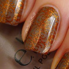 Gorgeous fall manicure - the brocade nail - nail art - nails