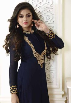 Madhubala as Drashti Dhami Blue Vaishnavi Georgette Designer Suit, Latest all types of Ethenic Collection of Drashti Dhami as Madhubala Designer Suit only at Maysha Fashion. Drashti Dhami, The Most Beautiful Girl, Indian Beauty, Bollywood Actress, Pretty Dresses, Hot Girls, Sexy Women, Chiffon, Short Sleeve Dresses