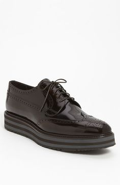 Prada Double Sole Wingtip available at #Nordstrom