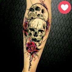 Tatouage Tete De Mort Avant Bras