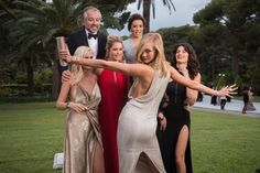 Pin for Later: The Glamorous amfAR Gala Is the Place to Be in Cannes Karlie Kloss, Lara Stone, Doutzen Kroes, and Isabeli Fontana