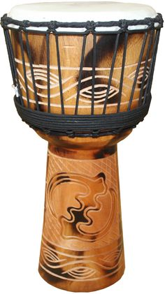 "Discount Djembes - Fire Sketch Adinkra Gye Nyame Carved Djembe 20"" x 11"", $79.00 (http://www.discountdjembes.com/fire-sketch-adinkra-gye-nyame-carved-djembe-20-x-11/)"