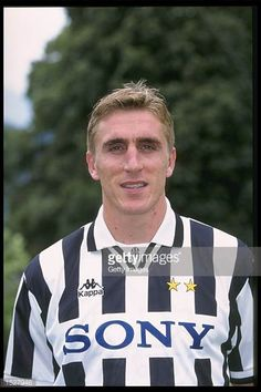 A portrait of Alen Boksic of Juventus taken during the club photocall Mandatory Credit Allsport UK