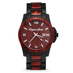 Our nod to style connoisseurs everywhere. Wear this watch to work, on a first dateand be prepared for compliments.Make a style statement with this combination of exotic Rosewood and Matte Black Steel. 10 Trees Planted for Every Watch Sold! FEATURES Pau Rosa(Rosewood) Hardened Mineral CrystalGlass (Scratch Resistant) Matte Black Stainless Steel Band and Case Japanese Miyota Citizen Quartz Movement Stainless Steel Butterfly Clasp Water Resistant Case (SeeFAQ) Adjustable to fit most a...