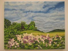 ORIGINAL Oil Painting  Summer Landscape with by AnInspirationalArt, $395.00