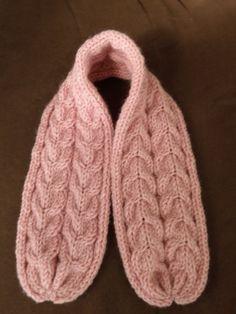 tricoter une echarpe avec des aiguilles n° 6