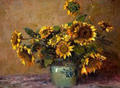 Adriaan Boshoff Romantic Paintings, Flower Paintings, South African Artists, Impressionist Art, Mellow Yellow, Still Life, Beautiful Flowers, Artworks, Passion
